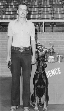 Erick and his Doberman Kane May 1977